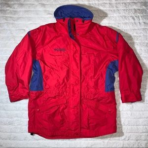 Columbia Red and White Gizzmo Winter Jacket